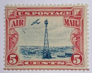 Travelstamps:1928 US STAMPS SCOTT#C11, Beacon and Rocky Mountains, Mint, Og, LH