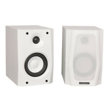 Madison White HiFi Sound System Bookshelf 30W Speakers (Pair)