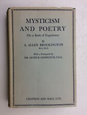 MYSTICISM AND POETRY On a Basis of Experience by A. Allen Brockington