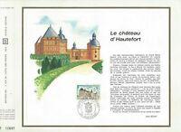 FEUILLET CEF 1er JOUR FRANCE CHÂTEAU D'HAUTEFORT 1969
