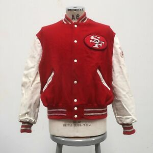 Vintage San Francisco 49ers 4X Super Bowl Champions Varsity Jacket Wool Leather