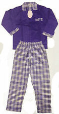 Girls Flannel 100% Cotton Pyjamas Set Full Sleeved Elasticated Trousers PJs Size