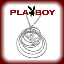 Playboy Necklace Bunny Charm Infinity Pendant Circle Play Boy y2k NEW Deadstock