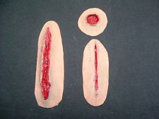 Cicatrices, Cortes, agujero de bala, Látex Prótesis, LARP