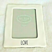 Rae Dunn  5 by 7 Picture Frame  Inscribed . LOVE.      NWOT