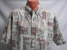 Mens Shirt Short Sleeve XL Outdoors Fishing Pattern Field and Stream