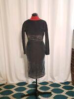Vintage 1950's Black Lurex Cocktail Dress
