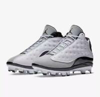 Nike Air Jordan Retro XIII 13 Cleats White/Black Cat High Men's sizes