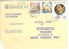 11026 - STORIA ITALIA 1983 - NATALE RAFFAELLO - AVVISO RICEV.IMENTO.- VEDI  FOTO