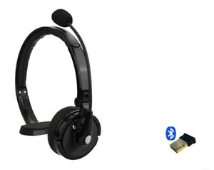 Headset adjustable Mic for Computer  Call Center  Bluetooth w/USB Dongle