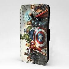 Para Apple iPod Abatible Estuche Cubierta Marvel Avengers Touch-A207