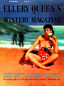 Ellery Queen's Mystery Magazine V22 No 118, September (1953) Canvas Poster 18x24