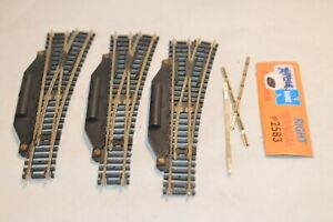 N scale track Atlas 2583 lot set of 3 right hand manual switch turnouts