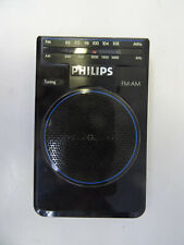 vintage portable pocket radio receiver - Philips D-1730 - AM FM Stereo Radio