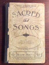 Sacred Songs No 1 (1896,Hardcover)Sankey McGranahan & Stebbins SheetNoteBook.com