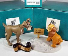 Walt Disney Classic Collection: Lady & Tramp w/ Title, 3 Piece Set