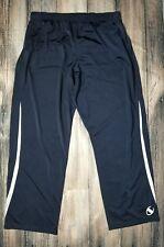 Champion Men's Authentic Track Pants Blue with White Stripes 2-Pocket Large 2Xl