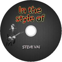 STEVE VAI IN THE STYLE OF GUITAR BACKING TRACKS CD BEST GREATEST HITS MUSIC