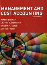Management and Cost Accounting-Alnoor Bhimani, Charles T. Horngren, Srikant Dat