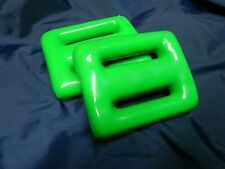 Scuba Dive Weights Coated Green for jota009 2 Pieces totaling 4 pounds New