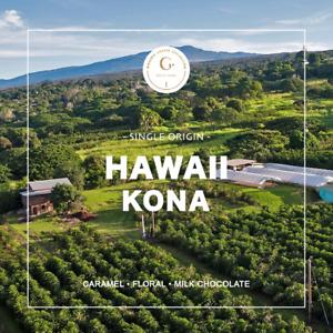 100% Hawaii Organic Kona Fresh Medium Roast Coffee, Whole Beans, 7 - 1 lbs Bags