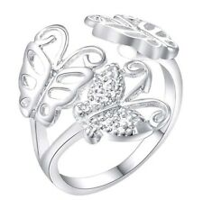 925 Sterling Silver Ring Butterfly Resizable Women's Jewellery Aus Ladies