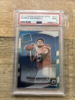 2017 PANINI DONRUSS OPTIC PATRICK MAHOMES #177 RC PSA 9 MINT ROOKIE CHIEFS