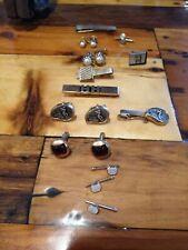 Tacks And Cufflinks Set Of Vintage Tie