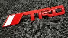 For Toyota TRD Red Emblem Trunk Fender Badge Sticker Decal Logo Universal