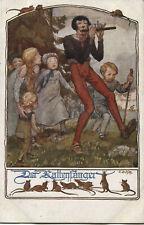 Ak -  Märchenkarte: Schulverein Nr.: 905, Der Rattenfänger von Hameln.