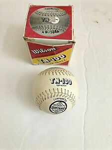 Wilson A9063 TN-Poly Core Leather Softball VINTAGE TN-100 New With Original Box