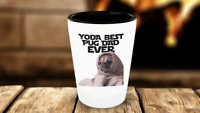 Pug Dad Shot Glass Funny Pun Yoda Best Ever Cute Birthday Gift Husband 1.5oz