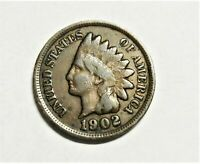 1902 Indian Head Cent Full Date circulated    C0923