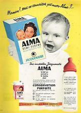 L- Publicité Advertising 1958 lait infantile bébé de Jacquemaire