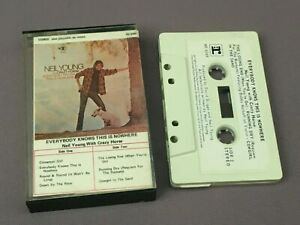 Vintage NEIL YOUNG CRAZY HORSE Cassette TAPE-EVERYBODY KNOWS THIS IS NOWHERE, Oz