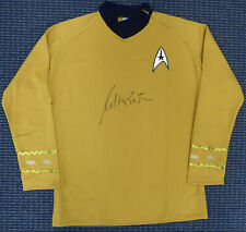 WILLIAM SHATNER AUTOGRAPHED STAR TREK UNIFORM SHIRT WITH ZIPPER L JSA 159211