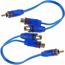 "Qty: 2) 7"" RCA Audio Cable ""Y"" Adapter Splitter 1 Male to 2 Female Plug 2 Pcs"