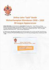 JACK SMITH WOLVERHAMPTON WANDERERS 1930-1933 VERY RARE ORIGINAL SIGNED CUTTING