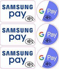 Credit Card Logo Sticker Decals Samsung Pay, Google Pay x 3