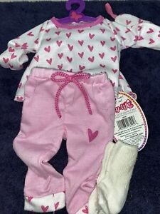 """my life 18"""" Doll  pink heart pajama set with tags FAST SHIPPING"""