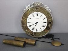 HELMUT MAYR WANDUHR UHR FRANZ HERMLE WERK 241 040 PENDEL GEWICHTE FILIGRAN clock