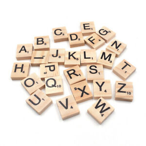 20x18mm Mix Wooden Scrabble Letters Alphabet Tiles For Baby Wood Toy 100 Pack
