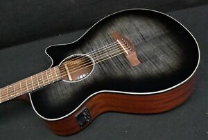 IBANEZ AEG70 TCH Acoustic Electric Cutaway Guitar FLAME MAPLE TOP preamp w/Tuner