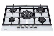 Millar GH7051TW 5 quemadores de gas integrado en Vidrio Cocina a gas 70cm Con Quemador Wok
