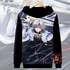 Anime D.Gray-Man Allen Cosplay Hoodie Casual Jacket Unisex Coat#VB37