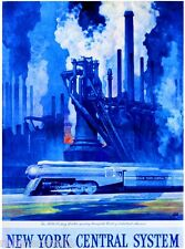 20th Century Industrial New York United States Travel Advertisement Poster