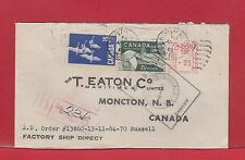 North Head N.B. Registered cover many backstamps, meter plus stamps Canada
