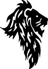 A lion decal or vinyl cut sticker glossy black.