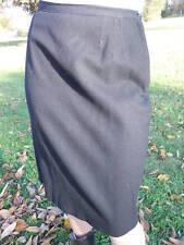 Vintage 40s 50s Black Winter Wool Pencil Teddy Suit Skirt Pinup Rockabilly Retro