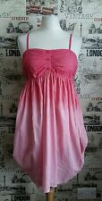 ICHI pink rainbow dress strappy size S 8-10 UK new best offers